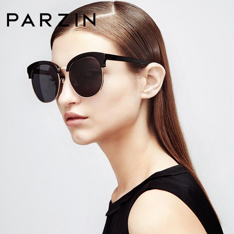 019661146c Online Shop PARZIN Brand Polarized Women Sunglasses Classic Retro Floral  Plastic Titanium Big Frame Shield Anti UV400 2018 New Quality 9635