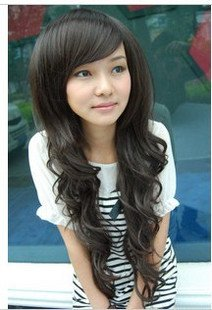 50fc9d76258 Black hair wig scroll fluffy love cute non-mainstream girls fake hair long  hair long hair fp7192