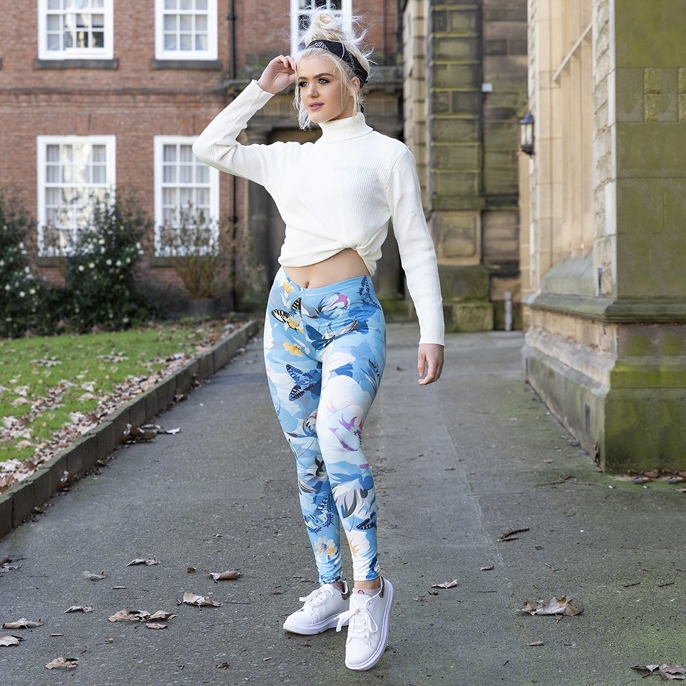 2019 New Design Women Legging Floral Garden Printing Leggins Slim High Elasticity Legins Fitness Leggings Female Pants