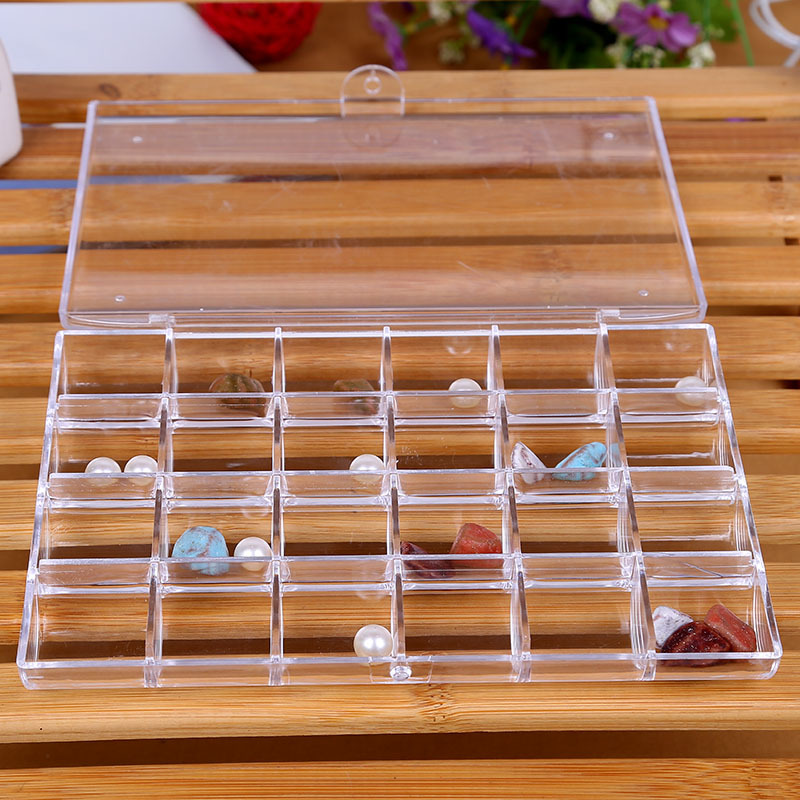 DINIWELL Transparent Acrylic Storage Box Bins Jewelry Containers Mini Rangement <font><b>Organizer</b></font> <font><b>Beads</b></font> Sundries Home Kitchen Storage image