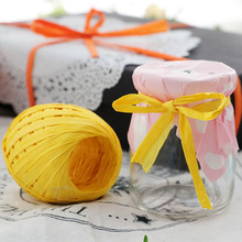 1Roll 20M Raffia Ribbon Paper Rope Natural Packaging Rope DIY Gift Decorations Wedding Party Supplies Package Gifts Baby Shower