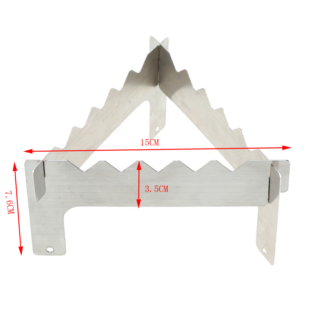 Outdoor Camping Stove Stand Rack Alcohol Stove Rack Stainless Steel Three-legged Stand Picnic Traveling Stove Stand