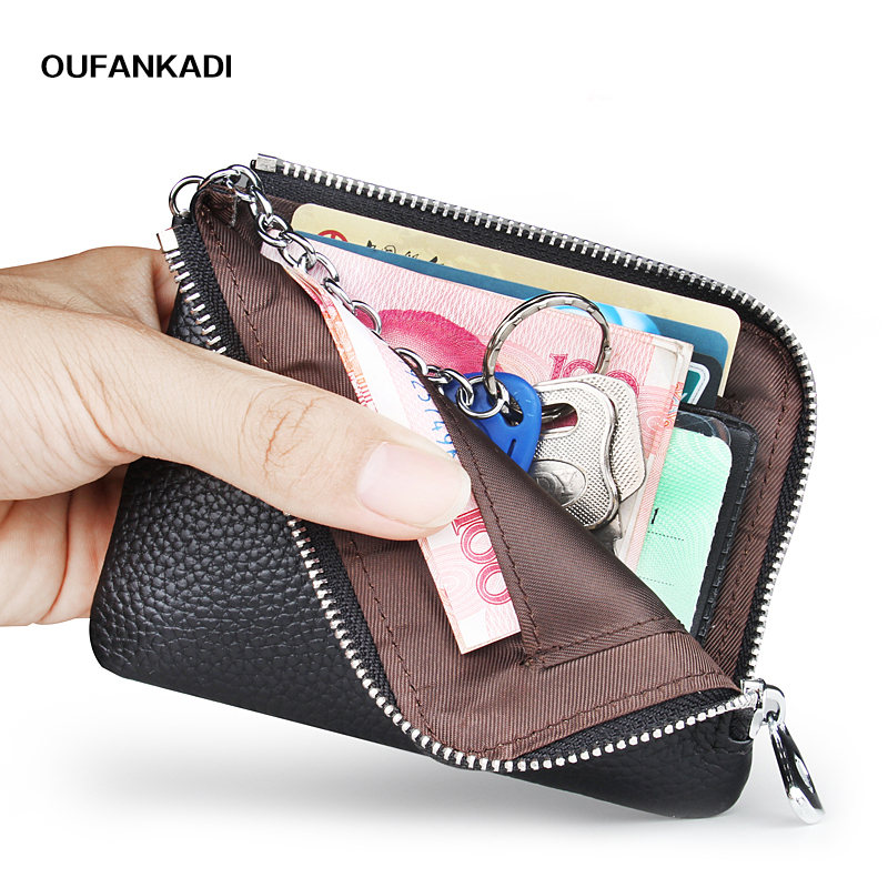 Oufankadi Coin Purse Small Wallet Change Purses Money Bags Children's Pocket Wallets Key Holder Mini Zipper Pouch aim 2018 new fashion men coin purse black color men s small wallet change purses money bags pocket wallets key holder q236