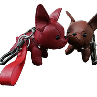 bulldog-keychain-pu-leather-animal-dog-keyring-holder-bag-charm-trinket-chaveiros-bulldog-bag-accessories-punk-style-pendant