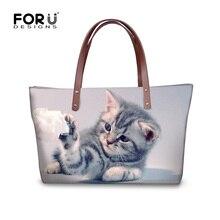 Forudesigns nette cat hund frauen handtaschen casual große frauen schultertasche luxus top-griff beutelqualität tote messenger bags