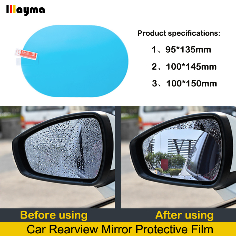 On Sale Clear Waterproof Rear View Mirror Nano Coating Transparent Protective Car Rearview Mirror Rainproof Film Anti Fog Window