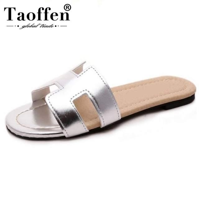 72ac5082f Online Shop Taoffen Lady Flat Sandals Brand Quality Female Shoes Women  Gladiator Sandals Shoes Flip Flops Ladies Footwear Size 35-40 W0142