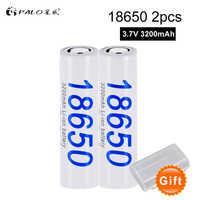 Palo Original de alta capacidad de 3,7 V 3200 mAh 18650 Li-Ion batería recargable de litio para láser Luz de la linterna