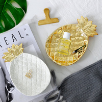Nordic simple ceramic pineapple storage tray creative home living room coffee table candy decorative plate fruits ornaments