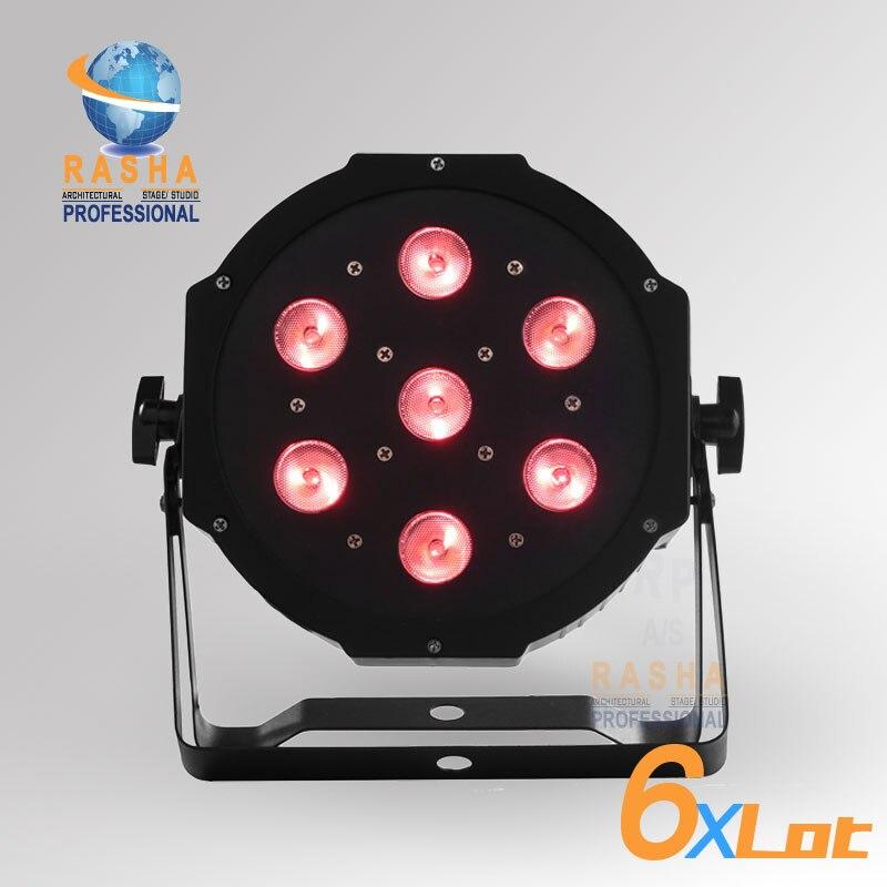 6XLOT Freeshipping HOT SALE 7pcs*12W Quad LEDs (4in1 RGBA/RGBW) LED Mega Quadpar Profile, DMX Par Can,RASHA PAR LIGHT 4x lot freeshipping adj 7 12w 4in1 quad leds rgba rgbw mega quad led par profile dmx led par can american stage light