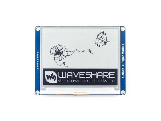 Waveshare 4,2 zoll E-Ink-display schwarz/weiß e-Papier mit spi-schnittstelle unterstützt Raspberry Pi/ arduino/Nucleo/STM32 3,3 V/5 V
