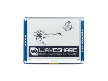 Waveshare 4.2inch E-Ink display black/white e-Paper with SPI interface supports Raspberry Pi/Arduino/Nucleo/STM32 3.3V/5V - DISCOUNT ITEM  10% OFF All Category