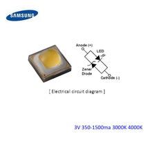 20 шт. samsung 3W SMD светодиодный Диод 3V 700ma 3000K 4000K доступна быстрая через регизитерную воздушную почту
