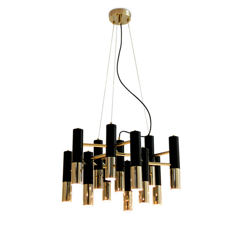 Ike Delightfull Villa modern brief creative aluminum black pendent Lamp for Dining Room Post Modern Art Creative Personality ledream contracted and creative personality sitting room dining room art glass chandelier american cherry branches pendent lamp