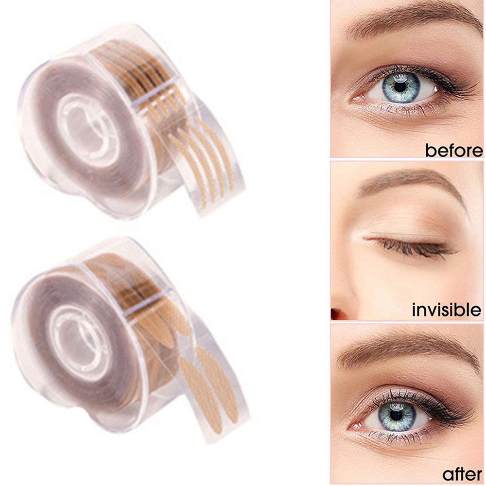 1Set Invisible Sticky Double Eyelid Tape Stickers Medical Fiber Eyelid Lift Strip Instant Eyelid Lift Without Surgery Eye Tapes