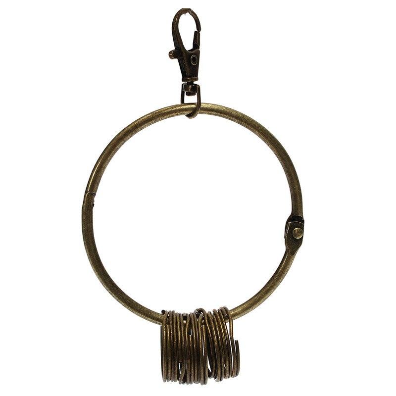 Aliexpress.com : Buy Large Big Key Chain Rings Keychain Keyring Retro Vintage Bronze Round Alloy ...