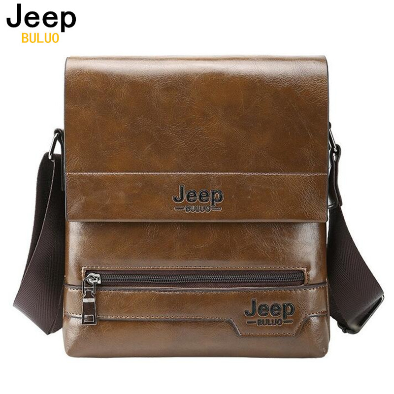 JEEP BULUO Brand Men Casual Bags 2017 New Fashion Man Crossbody Shoulder Bags High Quality Leather