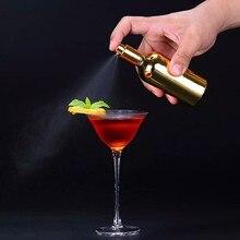100 мл серебряное и золотое покрытие стеклянные биттеры спрей и пламя коктейль спрей бутылка вина коктейль бармен стекло Распылитель Бар Инструмент
