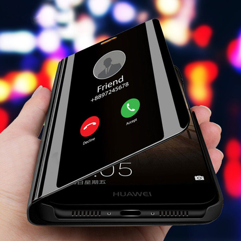3D Smart Mirror Flip Phone Case For Samsung Galaxy S10 S10e S10 Plus Back Case Covers Samsun S 10 Plus 10S 5G Mobile Phone Stand Pakistan