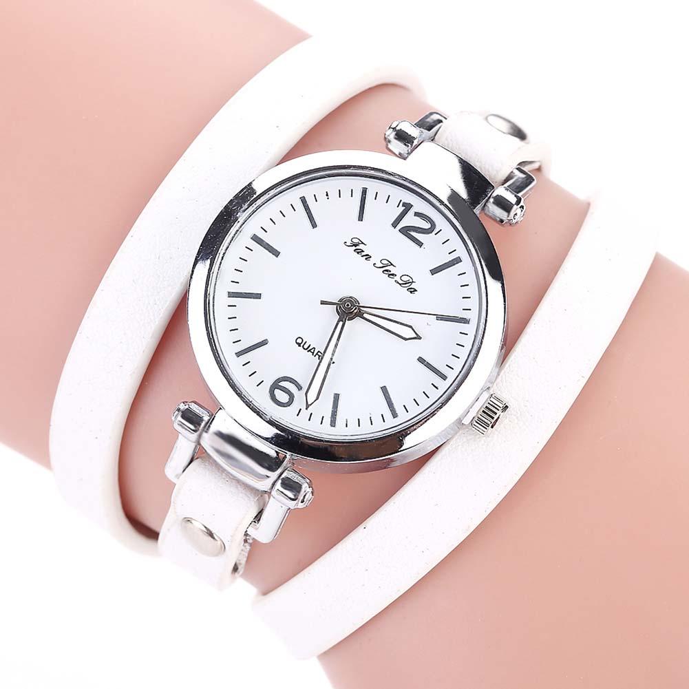 e74234df081a2 Estilo as Mulheres Relógios de Couro Fanteeda Bracelet Relógio 2017 Moda  Verão Novo se Vestem Casual de Pulso Tamanho  60 cm tt   88