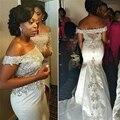 Sexy African Largo de Baile Vestidos de Sirena Con Cuentas Del Hombro de Las Mujeres Envío Rápido de Noche de Raso Vestidos de Graduación