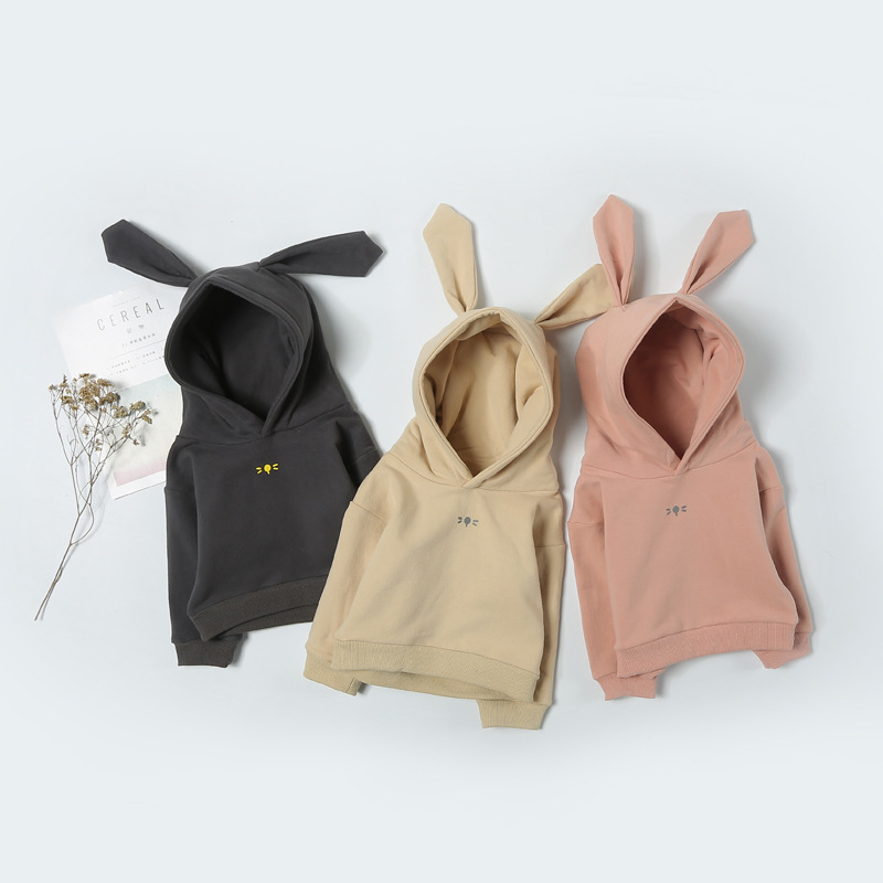 Cute Newborn Infant Kids Baby Boys T-shirt Rabbit Ear Hooded Sweatshirt Clothes Long Sleeve Clothes Tee T-shirt Tops Outfits 2017 new arrival 3pcs baby boys long sleeve t shirt tops braces trousers clothes fashion kids outfits set for 1 6y