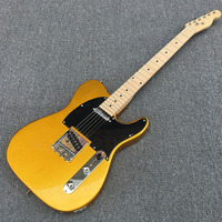 Galilee gold electric guitar,Quality assurance,Black guard,maple fingerboard has dot pearl inlay,Real photo displa