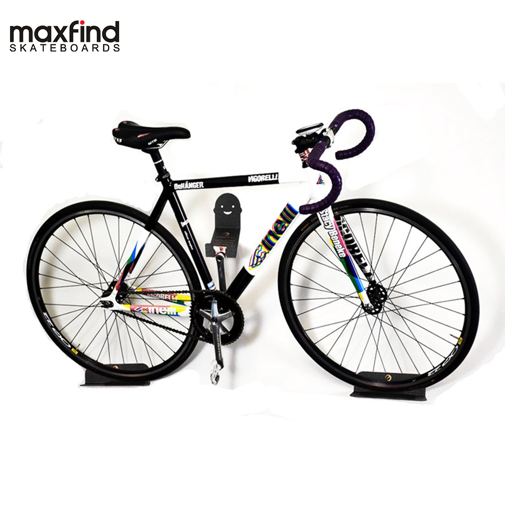 Maxfound Support mural porte-vélo Support de VTT Support en acier vélo vélo pédale pneu stockage Support de suspension