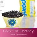 Free shipping Black Tapioca pearls beans pearl milk tea jelly milk tea raw materials vacuum loaded 500g