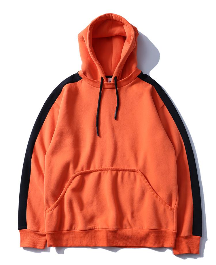 Aolamegs Hoodies Men Side Striped Hood High Street Pullover Cotton Fashion Hip Hop Streetwear Casual Big Pocket Hoodie Autumn (36)