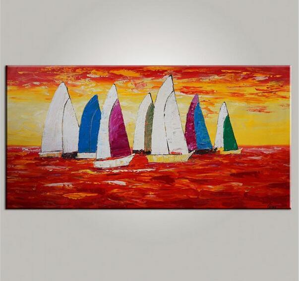 Segelboot sonnenuntergang gemalt  Online billig bekommen Abstrakte Segelboot -Aliexpress.com ...