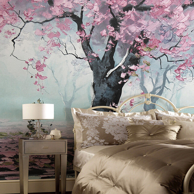 Custom Murals 3D Indoor Flower Design Murals Retro Style Oil Painting Photo Wallpapers Roll Bedroom Living Room Papel De Parede