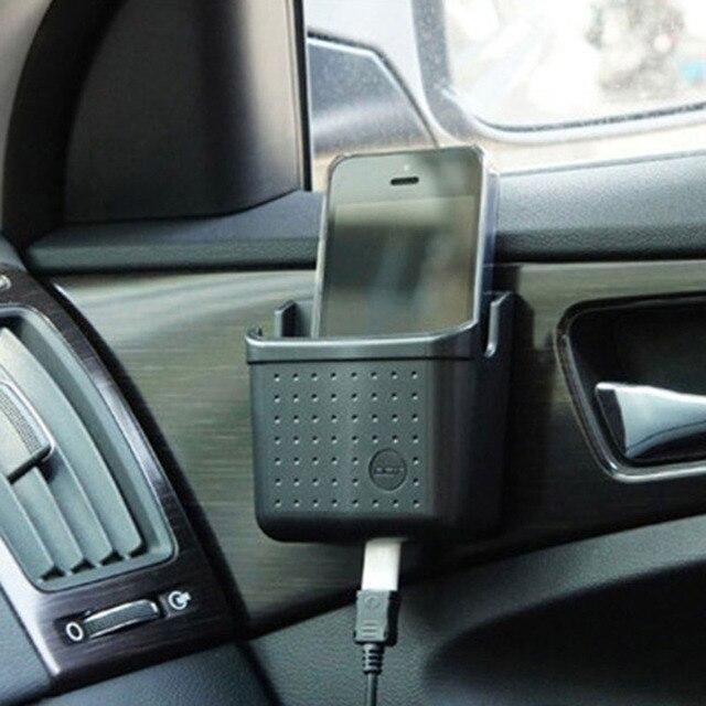 Support de téléphone portable universel noir | Offre spéciale, support de téléphone portable, de Charge de téléphone de la boîte, organisateur de poches de siège de voiture, sac de rangement