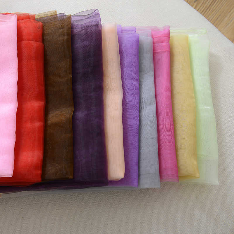Hot Selling Solid Color Voile Sheer Curtain Panel Window Curtains 100*200cm Pink Yellow