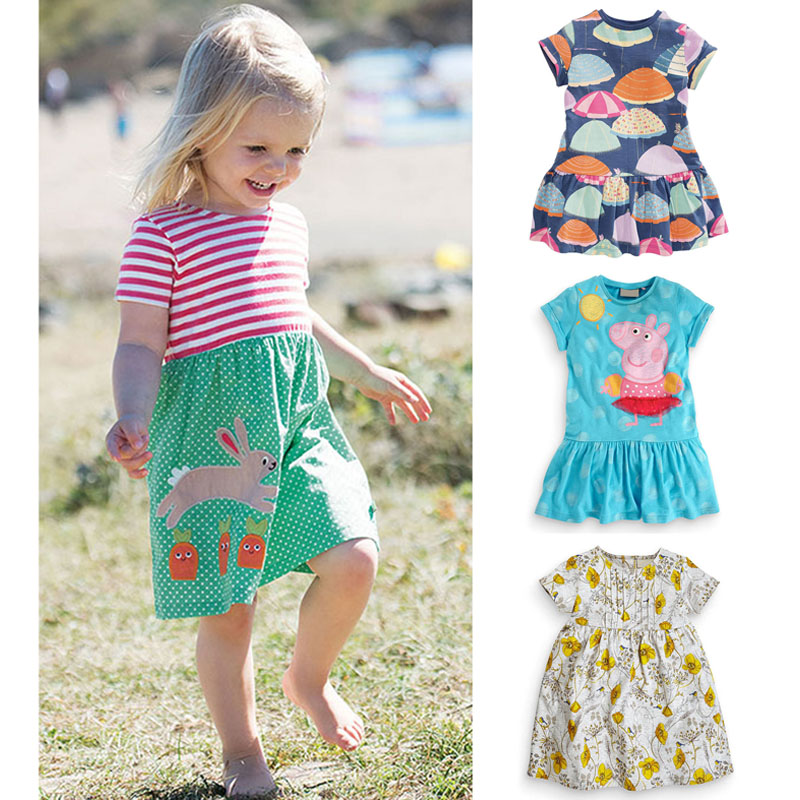 New 2018 Baby Girls Dresses Summer Children Clothing Kids Clothes Brand Quality 100% Cotton Girls Casual Dress Baby Girl Clothes baby girl summer dress children res minnie mouse sleeveless clothes kids casual cotton casual clothing princess girls dresses page 9