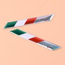 Beler-insignia de aluminio para maletero, emblema de defensa de bandera, 3D, para Alfa Romeo FIAT, 2 uds.