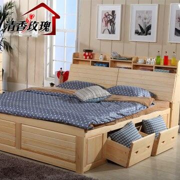 Cif y CRF libre madera cama de pino macizo muebles de madera de ...