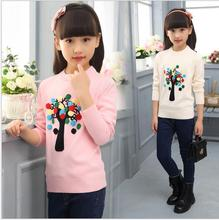 Cotton Pullover Knit Sweaters Casual Long Sleeve Pullover Girl Sweater Printted Cute Pattern Outerwear Jackets S059