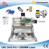 DIY Mini CNC 2418 500MW 2500MW 5500MW Laser Engraver For Woodworking 240 180mm With Engraving Tools