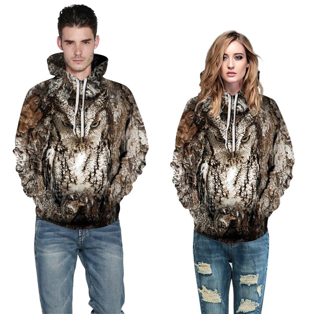 Image 3 - Women/Men 3D Owl Print Hoodie Winter Casual Pullover Hooded Long Sleeve Sweatshirt Clothing Fashion Tracksuits Animal StreetwearHoodies & Sweatshirts   -