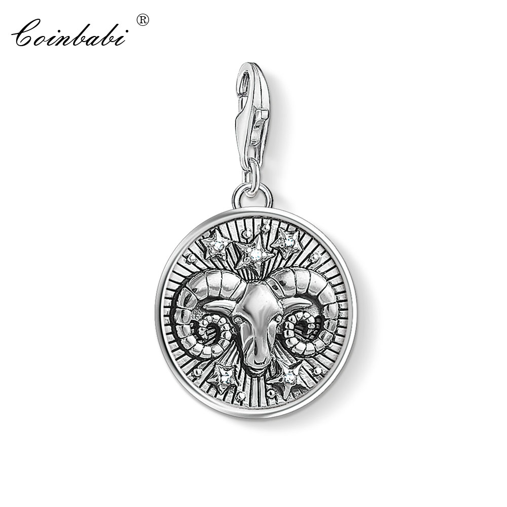 Romantic Aries Star Sign Charm Beads Diy Fits Pandora Original Charms Bracelet 925 Sterling Silver Jewelry For Women Men Gift Fl415 Beads & Jewelry Making