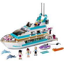 New Bela Compatible 10172 Friends Series Girls Large Yacht Club Cruise Ships Building Blocks Girl'sToys Birthday Gift