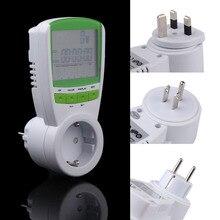 230V 50HZ Digital Energy Meter Watt Voltage Volt Meter Hertz Power Analyzer Factor Measurement Tool EU Plug