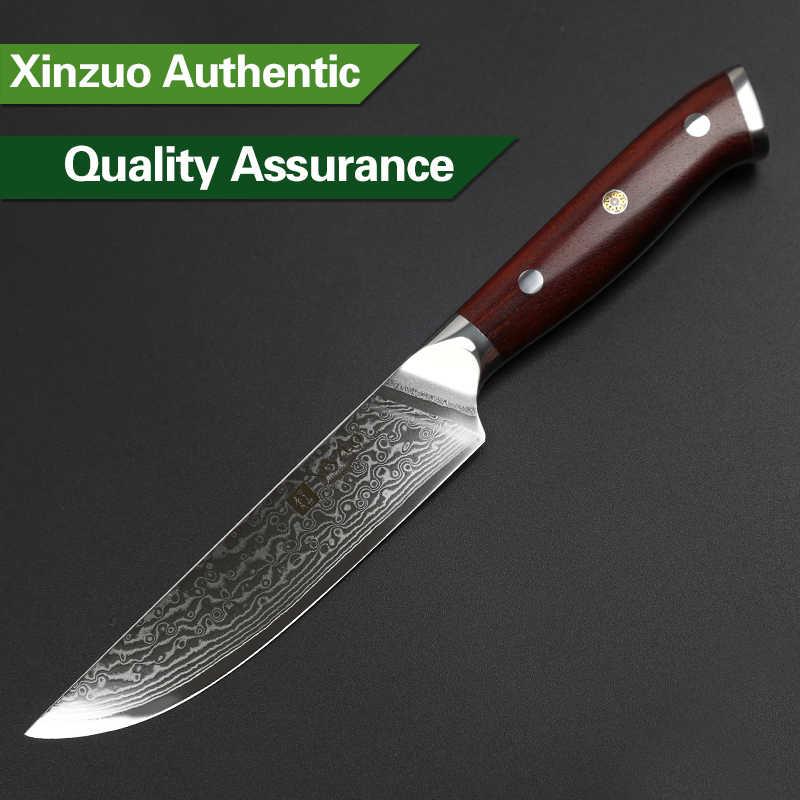 XINZUO 5 polegada Bife Faca Damasco vg 10 Rosewood Handle chegam Novas de Alta Qualidade Cozinha Facas de Cozinha de Aço Utilitário Ferramenta faca