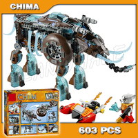 603pcs Bela 10297 Maula's Ice Mammoth Stomper learn education enlighten Model building blocks Kids Toys Compatible with Lego