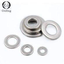 Washer Gasket-Rings Flat-Machine Stainless-Steel M4 M2.5 100pcs M2 M5 DIN9021 M6 M3 M8