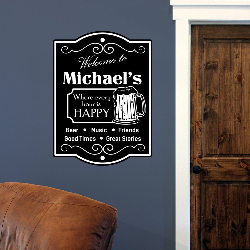 Personalized Family Name Art Wall Sticker Home Decor Living Room