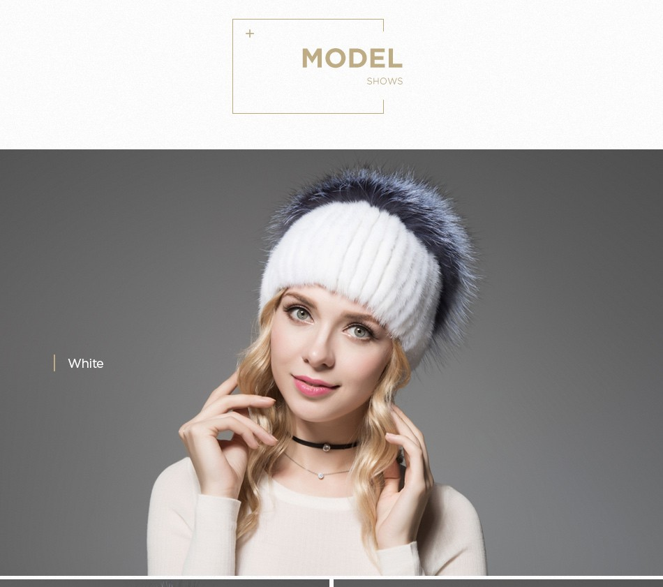 fur woman winter hats PCM012 (8)