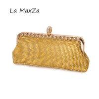 2018 Newfashion luxus handtaschen frauen taschen entworfen für abendtasche gold Diamanten Kette Haspe Jahrestagsfeier umhängetasche