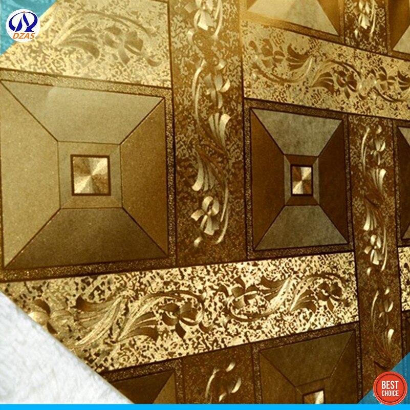 Золотой фольги обои потолка и КТВ коробка золото проекта магазин одежды фон обои мозаика отель DZAS-CJ обои